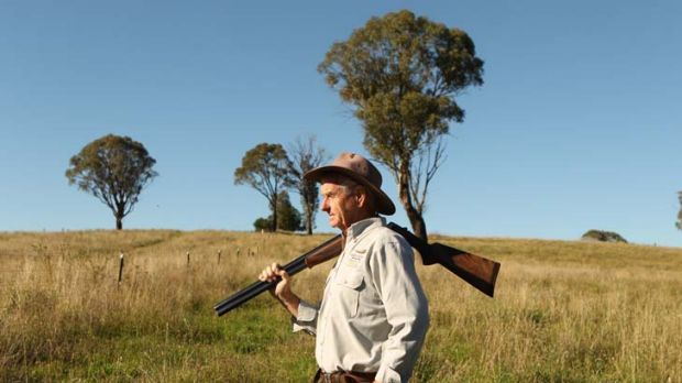 ''The fox takes a lot of lambs'' … Edward Hoogenboom takes a break from clearing land of feral animals.