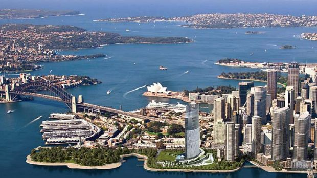 High stakes ... James Packer's proposed six-star hotel and casino in Barangaroo.