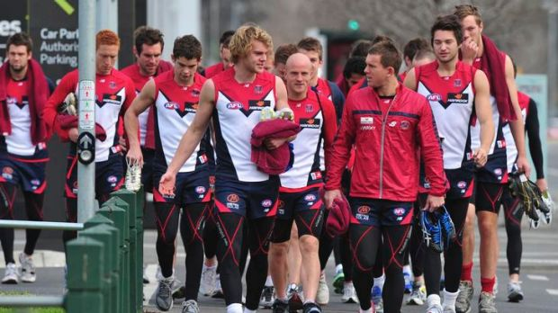 The Demons at their current base,  AAMI Park, which the lord mayor expects the club to outgrow.