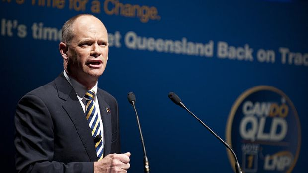 Campbell Newman addresses LNP faithful at the party's official campaign launch on Sunday.