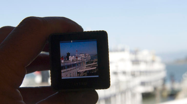 The Lytro camera is displayed for a photograph in San Francisco, California.