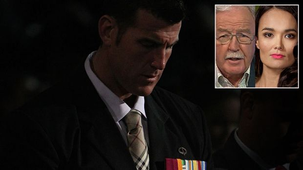 Mocked ... Ben Roberts-Smith - received apologies from the show's hosts, Yumi Stynes and George Negus.