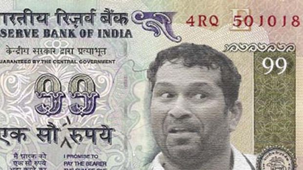 Funny money ... the Sachin note.