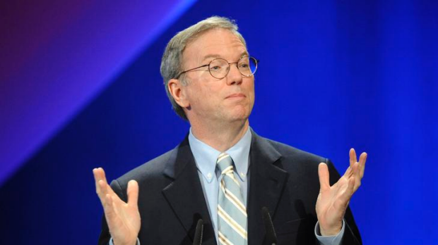 Google CEO Eric Schmidt ... looking to the future.