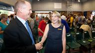 AFR. News. Brisbane. Queensland State Election 2012.LNP candidate for Ashgrove Campbell Newman and current Member for ...