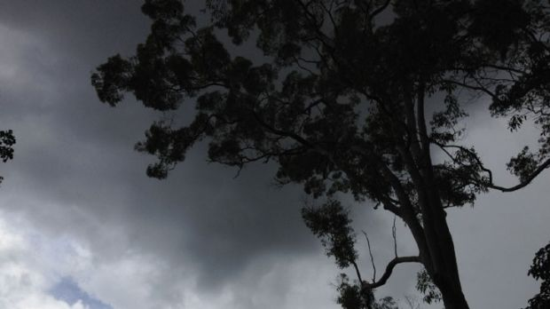 A menacing black cloud with some thunder went over Hornsby this afternoon.