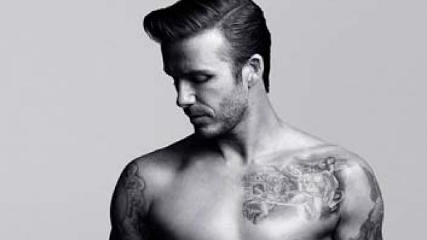 David Beckham in the H&M advert.