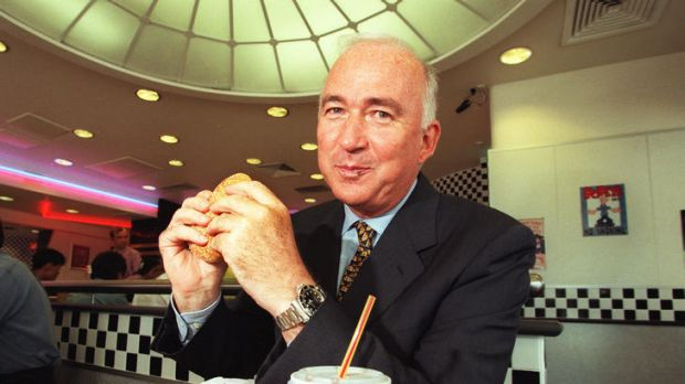 An old friend of Gina Rinehart, the media-shy Jack Cowin at home in a Hungry Jack's restaurant.