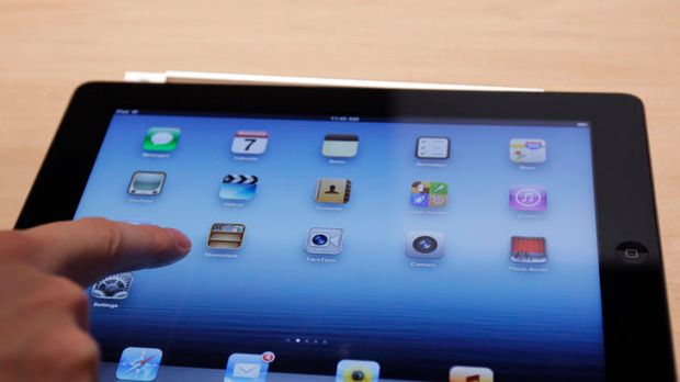 The new iPad model features a sharper screen and a faster processor.