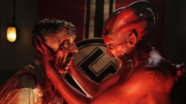 Demon days ... two evils meet in the 2011 New Zealand film <i>The Devil's Rock.</i>