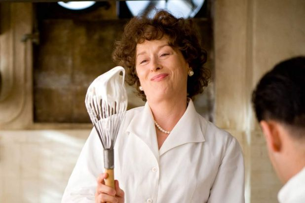 Julie and Julia (2009) in the role of Julia Child <b><br> NEXT CLUE: Co-starring Jim Carrey, Meryl plays the aunt of ...