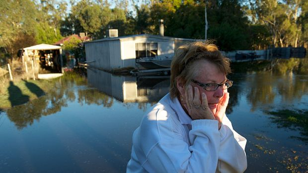 Pat Butler is one of several Nathalia residents whose homes were flooded.