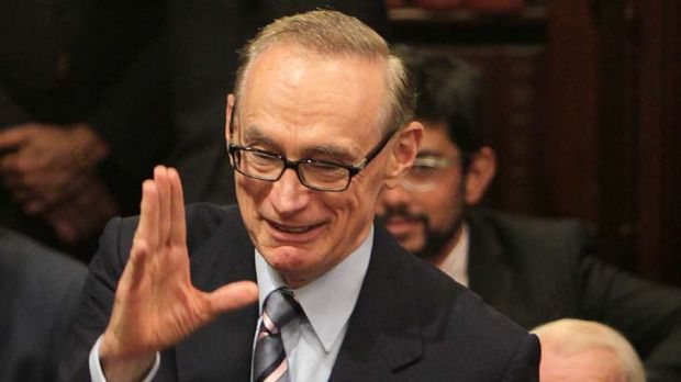 Leaving in the nick of time ... new senator and minister Bob Carr.