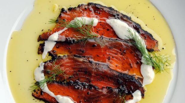 Cured ocean trout at Italian and Sons, Braddon.