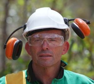 "Tony Abbott ... ""Working Man Tony understands the pain of the man on the land."""