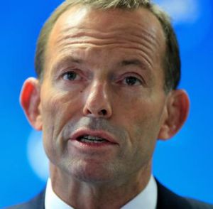 Business backing: Tony Abbott.