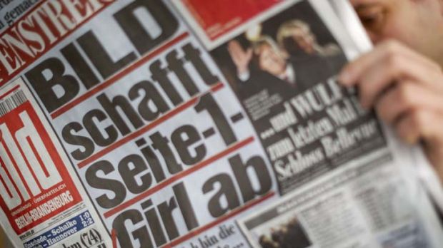 Bold the front page … Eva from Poland became the last naked woman to feature on the front cover of <em>Bild</em> ...