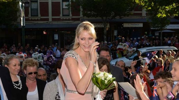 Princess Charlene of Monaco entrances Bendigo last night.