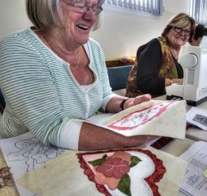 Life goes on at the Girgarre quilting club.