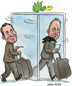 Revolving door … George Frazis is replacing Rob Chapman at St George. <em>Illustration: John Shakespeare</em>