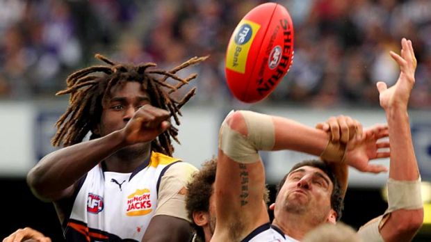 Is this the best ruck combination in the AFL? Eagles big men Nic Naitanui and Dean Cox.