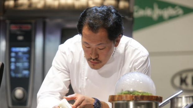 Sang-hoon Degeimbre is known for his molecular gastronomy.