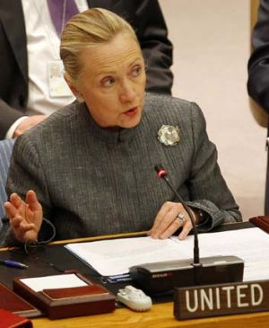 """If built, it could raise serious concerns under the Iran Sanctions Act,"" ... U.S. Secretary of State Hillary Clinton ..."