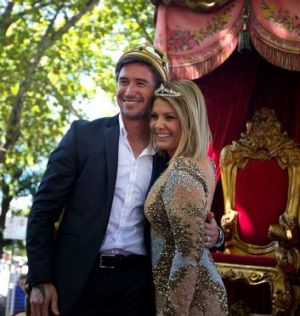 Moomba king and queen Harry Kewell and Natalie Bassingthwaighte.