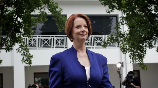 Prime Minister Julia Gillard's Labor Party has suffered a four-point drop in its primary vote, but she has overtaken ...