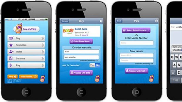 Buy anything... mHits payment app.