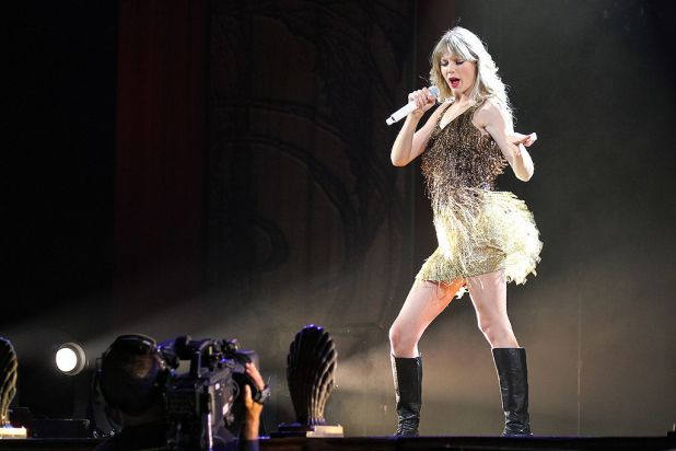 Swift on stage.