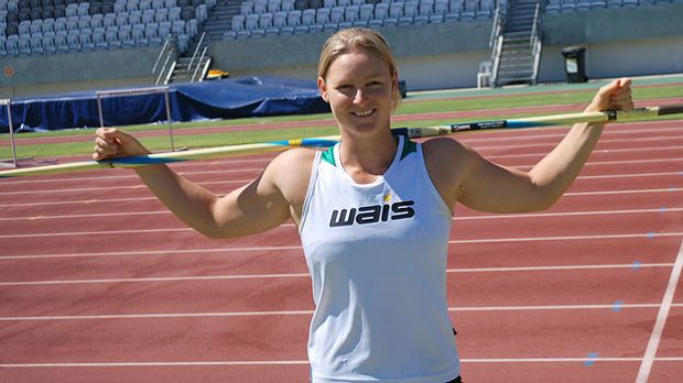 "Perth's Kim Mickle hasn't thrown a javelin ""in anger"" in six months but she's bound for the London Olymics provided she ..."