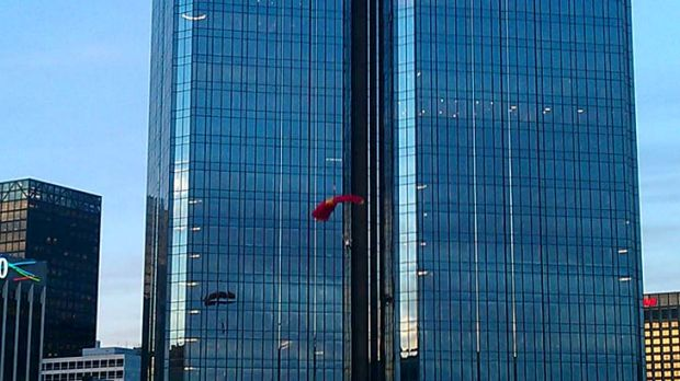 Reader Jeraaz Bharucha took this picture of one of the Rialto BASE jumpers.