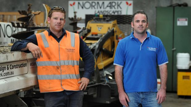 Landscape gardeners James Anderson (left) and Danny Fern, co-owners at Normark Landscapes.