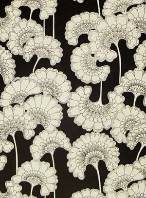 Florence Broadhurst Japanese Floral wallpaper from the Brooklyn Brownstone collection.