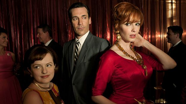 Christina Hendricks (right) says audiences will learn a lot more about her character, Joan, in the upcoming season of ...
