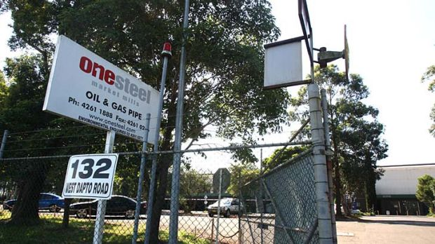 Closure … OneSteel's oil and gas pipe manufacturing business at Kembla Grange.