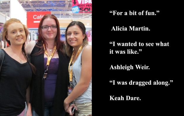 Alicia Martin, Ashleigh Weir and Keah Dare at Sexpo 2012.