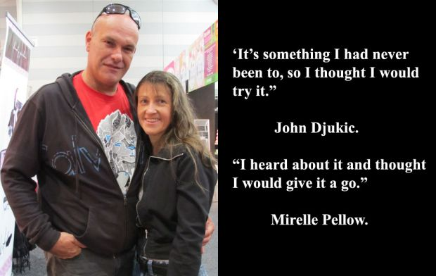 John Djukic and Mirelle Pellow at Sexpo 2012.
