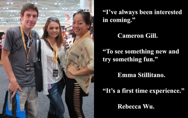 Cameron Gill, Emma Stillitano and Rebecca Wu at Sexpo 2012.