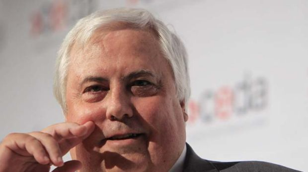 Clive Palmer … vow of editorial independence.