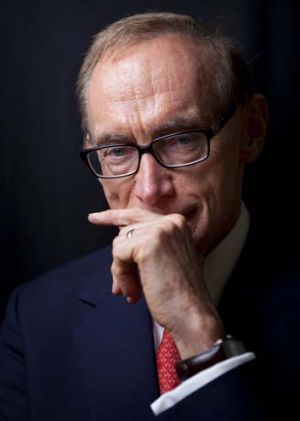 Taking notes ... Foreign Affairs Minister and Senator Bob Carr.