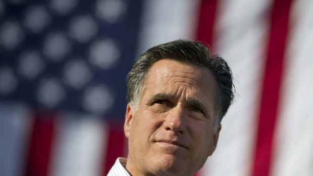 A sure bet ... Republican presidential candidate Mitt Romney.