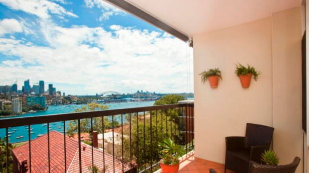 The view from a Darling Point residence.