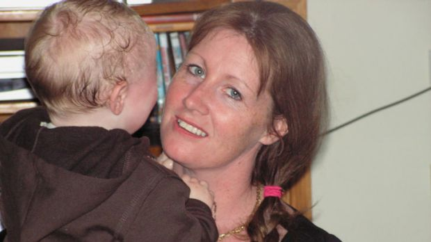 Cindy Crossthwaite, with her son Jonas, a month before she was found brutally murdered in the hall of her South Melton home.
