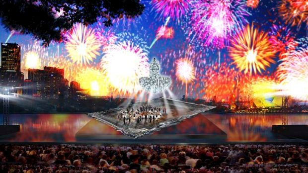 An artist's impression of La Traviata on Sydney Harbour. Don't expect to see the show here on Albert Park Lake, though; ...