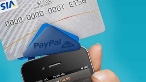 PayPal Here smartphone adaptor.