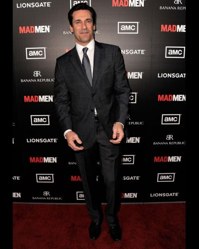 "Jon Hamm arrives at the Premiere of AMC's ""Mad Men"" Season 5."