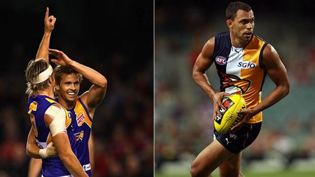 Mark LeCras and Mark Nicoski (left) are gone so West Coast needs Josh Hill - a whipping boy at times at the Western ...