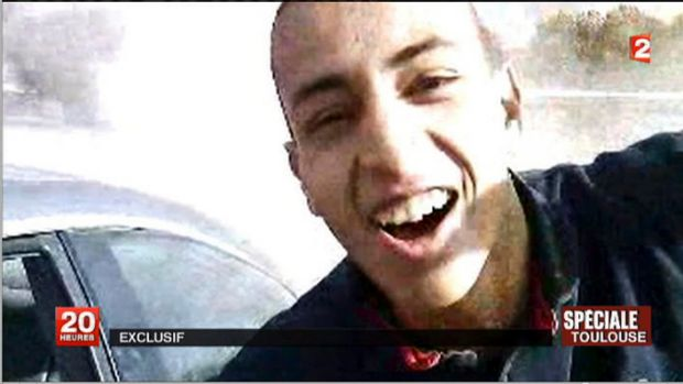 Siege ... French TV claims that this is Mohamed Merah.
